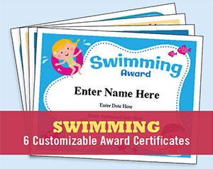 swim certificates templates button
