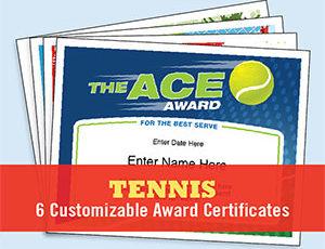 Tennis Certificates