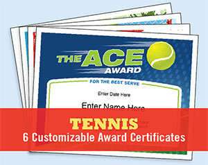 tennis certificates button