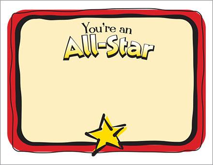 ALL STAR CERTIFICATE