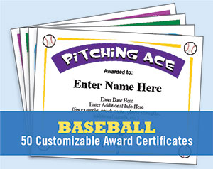 Sports certificate templates for softball baseball lacrosse etc baseball certificates yelopaper Gallery