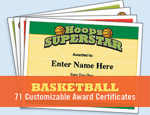 Basketball Certificates