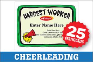 Cheerleading Award Certificates Bundle image