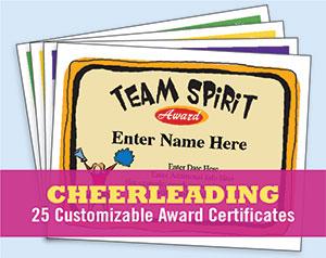 cheerleading certificate templates free - cheerleading certificates free awards templates