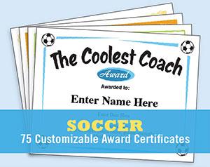 soccer certificates free award templates futbol