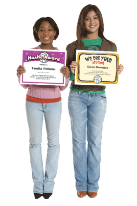 volleyball certificates awarded to girls image