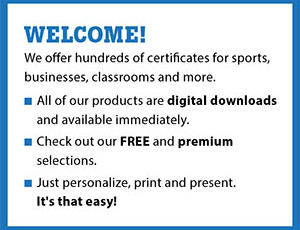 free certificates templates awards for sports biz and more