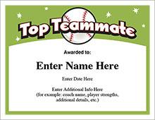 Top Teammate Certificate image