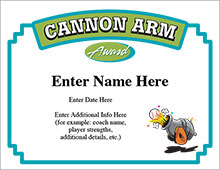 Cannon Arm Certificate image
