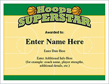 free printable basketball certificates