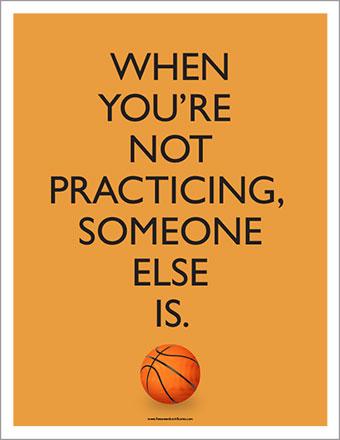 Gym Basketball Poster