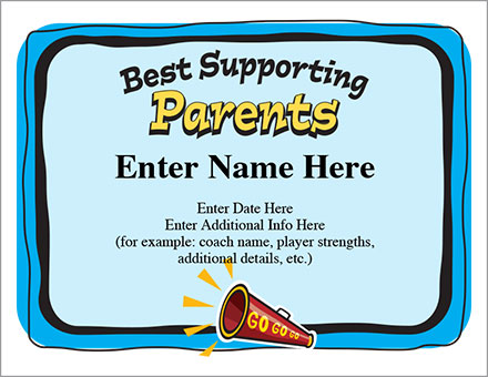 Best Supporting Certificate