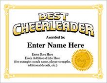 cheerleading award certificates image
