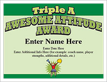Triple A Award certificate image