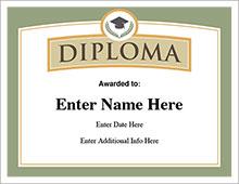 free diploma certifcate image