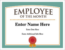 Employee of the Month award image