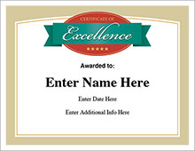 certificate of excellence award image