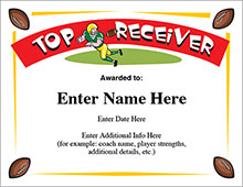 Football top receiver award image