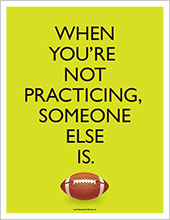 football practice poster image