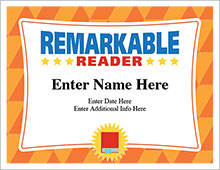 Remarkable Reader certificate template