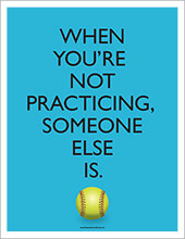 Baseball practicing poster image