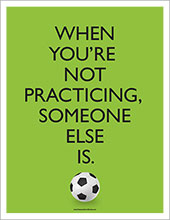 Soccer practice poster image