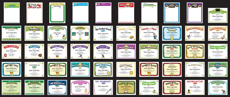 Sports certificate templates for softball baseball lacrosse etc yelopaper Choice Image