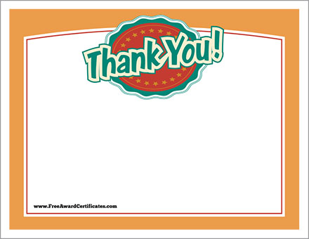Thank You Certificates Templates  Free Award Certificates
