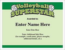 Volleyball superstar award