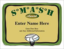 SMASH volleyball award