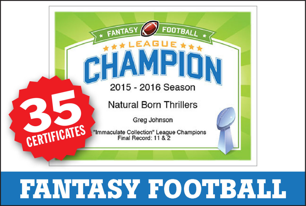 fantasy football award certificates cranky commissioner