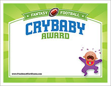 Fantasy Football Award Certificates | Cranky Commissioner