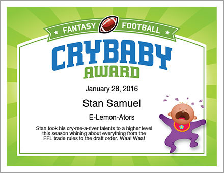 FFL Crybaby Certificate