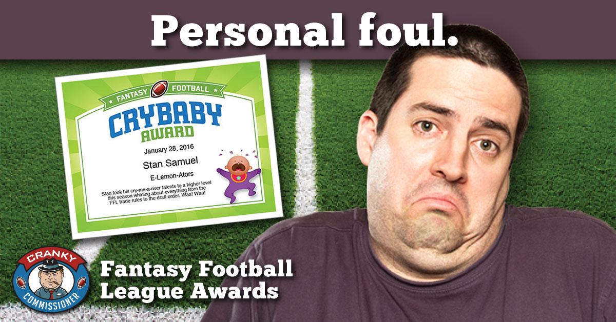 Fantasy Football Award Certificates image