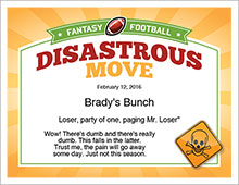 disastrous move certificate image