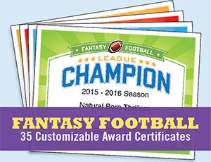 Fantasy Football Award Certificates