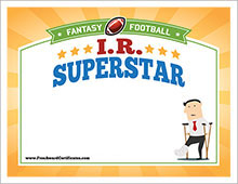 Fantasy football award certificates cranky commissioner free fantasy football award certificates free crybaby certificate image crybaby award free ir superstar image yelopaper