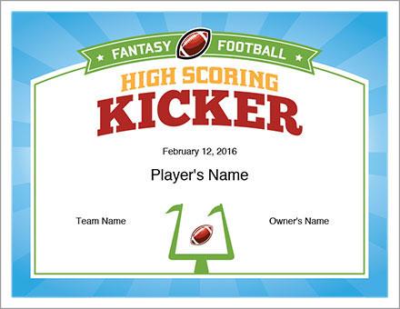 High Scoring Kicker Award