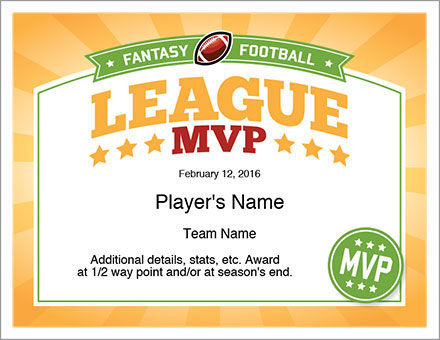 league mvp award fantasy football