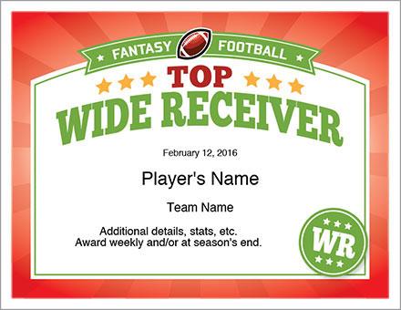 Top Receiver Award