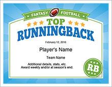 Top Running Back Award image