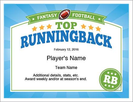 Top Running Back Award