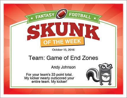 Skunk of the Week Award