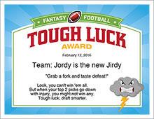 Tough Luck Award image