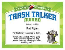 Trash Talker Award image