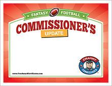 Commissioner's Update Cert image