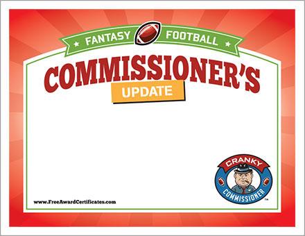 Free Commissioner's Update cert image