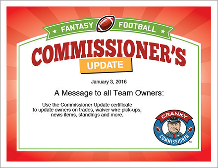 FFL Commissioner's Update image