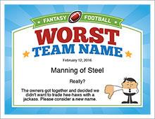 Worst team name image