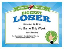 biggest loser award